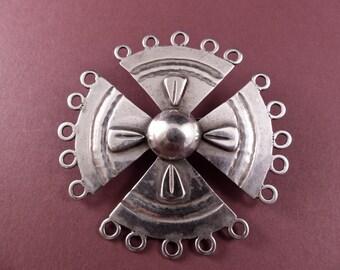 Vintage Taxco 980 Silver Serafin Moctezuma Large Brooch