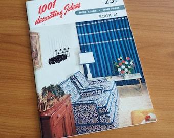 1001 Decorating Ideas Book 14 1950s Interior Decorating Magazine Mid Century Interior Design