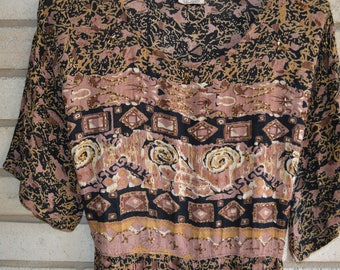 Vintage Beaded Rayon Maxi Made in India by Magic