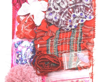 Habby Bag - Pink/Red - Mix and Match Arts & Crafts Kit