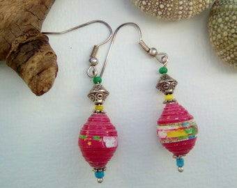 Paper Fuchsia earrings