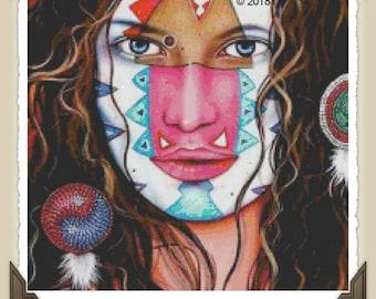 Aquarius, FanXstitch Art, Cross-Stitch Pattern, Pdf Zip File, Immediate Download, Great DIY Gift