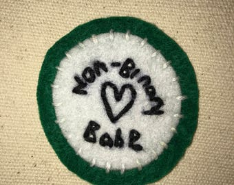 Handmade Non-Binary Babe Patch