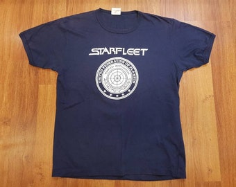 Vintage Starfleet Shirt, Star Trek Shirt, Starfleet Academy, Size Mens L