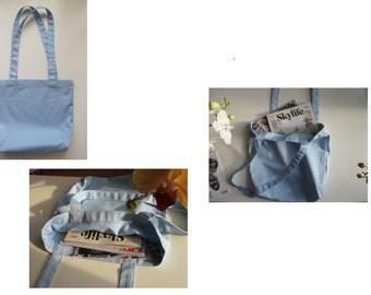 Blue Canvas Tote Bags