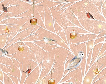 Quilting Treasures - Woodland Wonder - Branch Toss Christmas Holiday fabric by the yard  24524-C