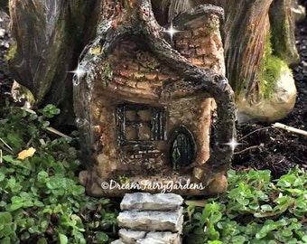 micro mini fairy garden house, fairy garden terrarium, tiny fairy house, miniature house, gnome house, tiny fairy house, small house