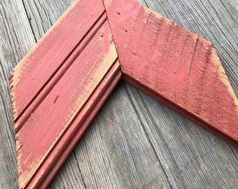 Salvaged wood arrow
