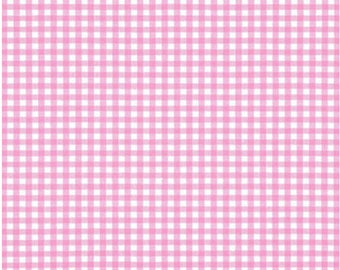 Candy Pink Gingham Checks Plaid Fabric by Carolina Gingham for Robert Kaufman Fabric