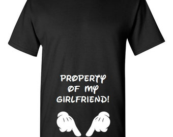 Property Of My Girlfriend T-Shirt Valentine's Day Gift Shirt Birthday Anniversary S-3XL
