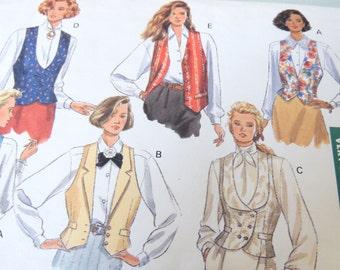 Butterick 4314 Classics Very Easy Vest Pattern size 6-8-10 Uncut