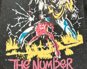 iron maiden , the number of the Beast !! vintage patch 80s .