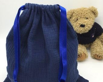 Laundry bag, put blanket, double gauze cotton storage pouch