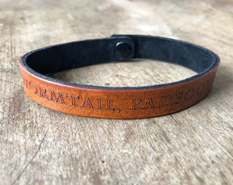 Moony, Wormtail, Padfood & Prongs - Leather Bracelet