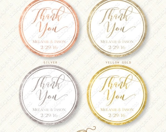 Gold and White Wedding Favor Tag Custom Text Printable tags glitter personalized digital bridal shower treat bag diy customized silver