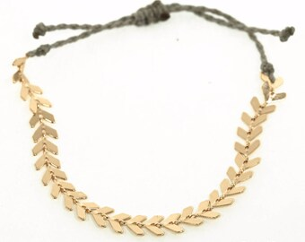 Chevron Chain Friendship Bracelet, Layering Bracelets, Stacking Bracelets, Stackable Bracelets
