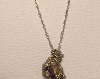 ametrine argentium sterling silver pendant necklace