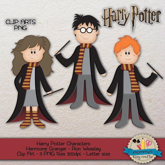 Clip art harry potter characters hermione granger ron weasley clip art harry potter characters hermione granger ron weasley 3 png files 300dpi letter size from mimogodesign on etsy studio bookmarktalkfo Image collections
