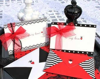 Queen of Hearts Valentine Pochette Love Notes - DIY Printable