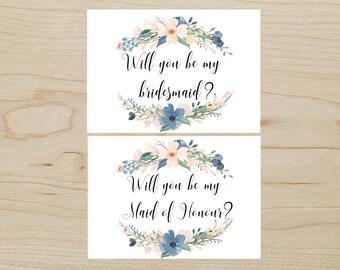 Bridesmaid & Maid of Honour Cards