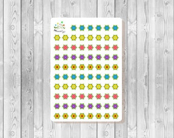 S140 - 78 Flower Dots Planner Stickers