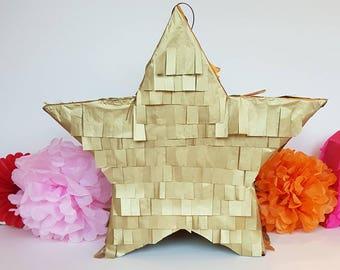 Five Point Star Pinata - wedding pinata, girls birthday, baby shower,
