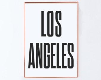 Los angeles, Graphic art, USA, Black White Art Typography Poster, california wall art, california Poster, california Print, california Art,