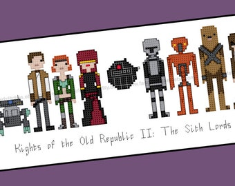 Star Wars Knights of the Old Republic 2: The Sith Lords themed Cross Stitch - PDF pattern - INSTANT DOWNLOAD