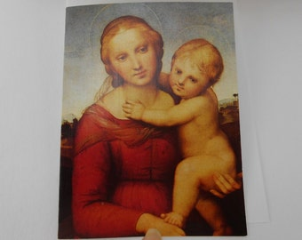 Vintage Christmas card boxed Christmas cards religious Christmas cards Madonna and Child new old stock boxed cards and envelopes 36 cards