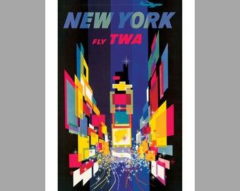 TWA New York Art Print