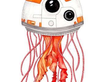 Space Jelly Art Illustration Print