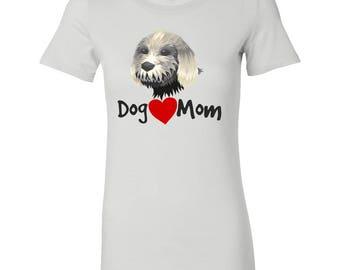 Dog Mom Love Heart Bella Womens Shirt