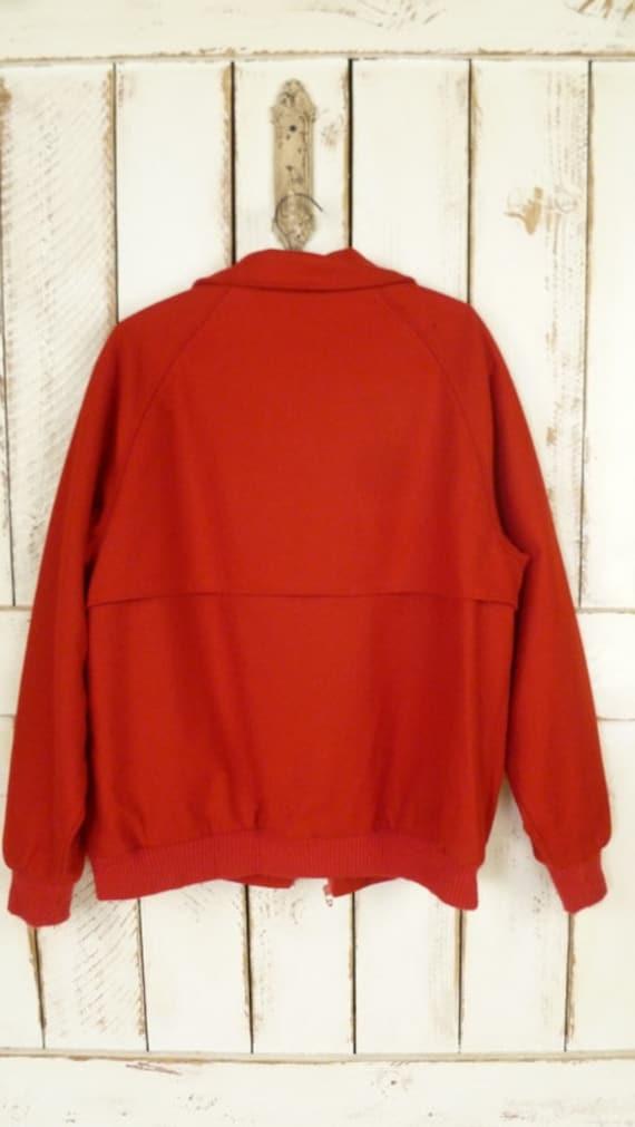 vintage bomber jacket Mens large red wool Pendleton cherry medium v11xqwCa