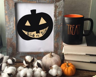 Halloween Printable Art: Jack-o'-lantern Trick or Treat