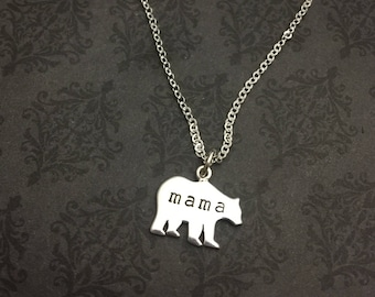 Mama Bear Necklace - Say Anything Jewelry ® - Mama Bear Jewelry - Mama Bear - Mama Bear Gift - Baby Shower Gift - Gift for mom