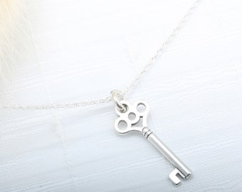 Key of love Key 925 sterling silver necklace Valentine's Day gift