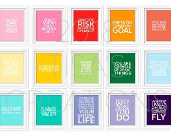 PRINTED Inspirational Prints - Set of 15