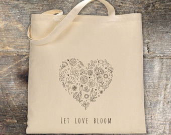 Canvas Tote LET LOVE BLOOM