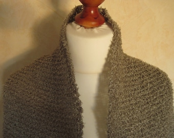 Stole paper yarn scarf Schaltuch Shawl Knit scarf paper yarn cotton beige steel Grey ito