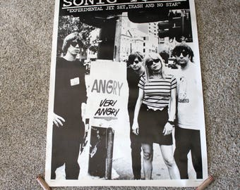 1990s Sonic Youth Promo Poster UK Printed, Alt Rock Band
