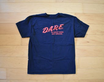 Vintage D.A.R.E. T-Shirt Black Tee Adult size large