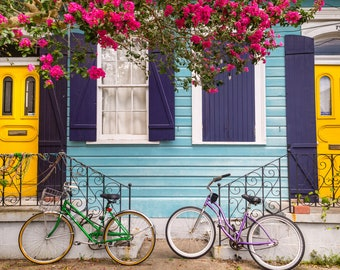 New Orleans Colorful House Greeting Card