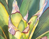 "Watercolor Print ""Tropical Leaves"" by Sandi McGuire"