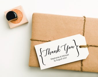 Thank You Rubber Stamp, Thank You Stamp, Wedding Stamp, Thank You Favor Stamp, Personalized Thank You Stamp, Wedding Thank You (STHAN401)