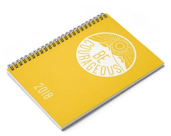 Yellow Be Courageous Special Convention Spiral Notebook jw