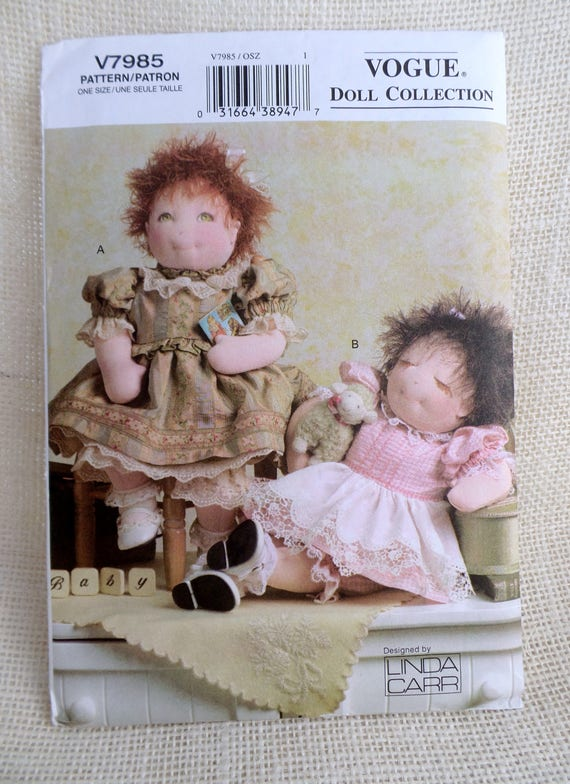Mode V7985 Puppe Muster nähen Linda Carr Puppe Kleid Kleidung