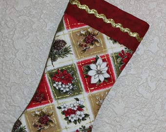 Christmas Stocking / Patchwork Christmas Stocking / Hand Made Christmas Stocking