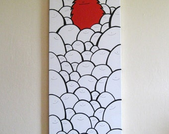 Acrylic Painting On Canvas - Original - Born to be Different - Tall Canvas Version