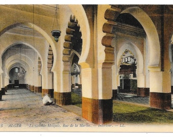 Algiers's Grand Mosque Photo Postcard, c. 1910