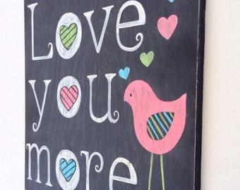 Baby Girl Nursery Wall Art - Baby Wall Decor - Bird Nursery Art - Nursery Wall Decor Girl - Art for Nursery - Wood Sign - Pink Nursery Decor